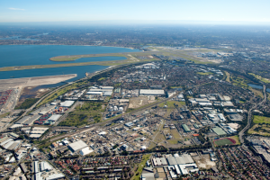 Botany Industrial Park aerial view